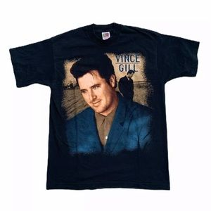 Vintage 90's Vince Gill Music Band Country T Shirt